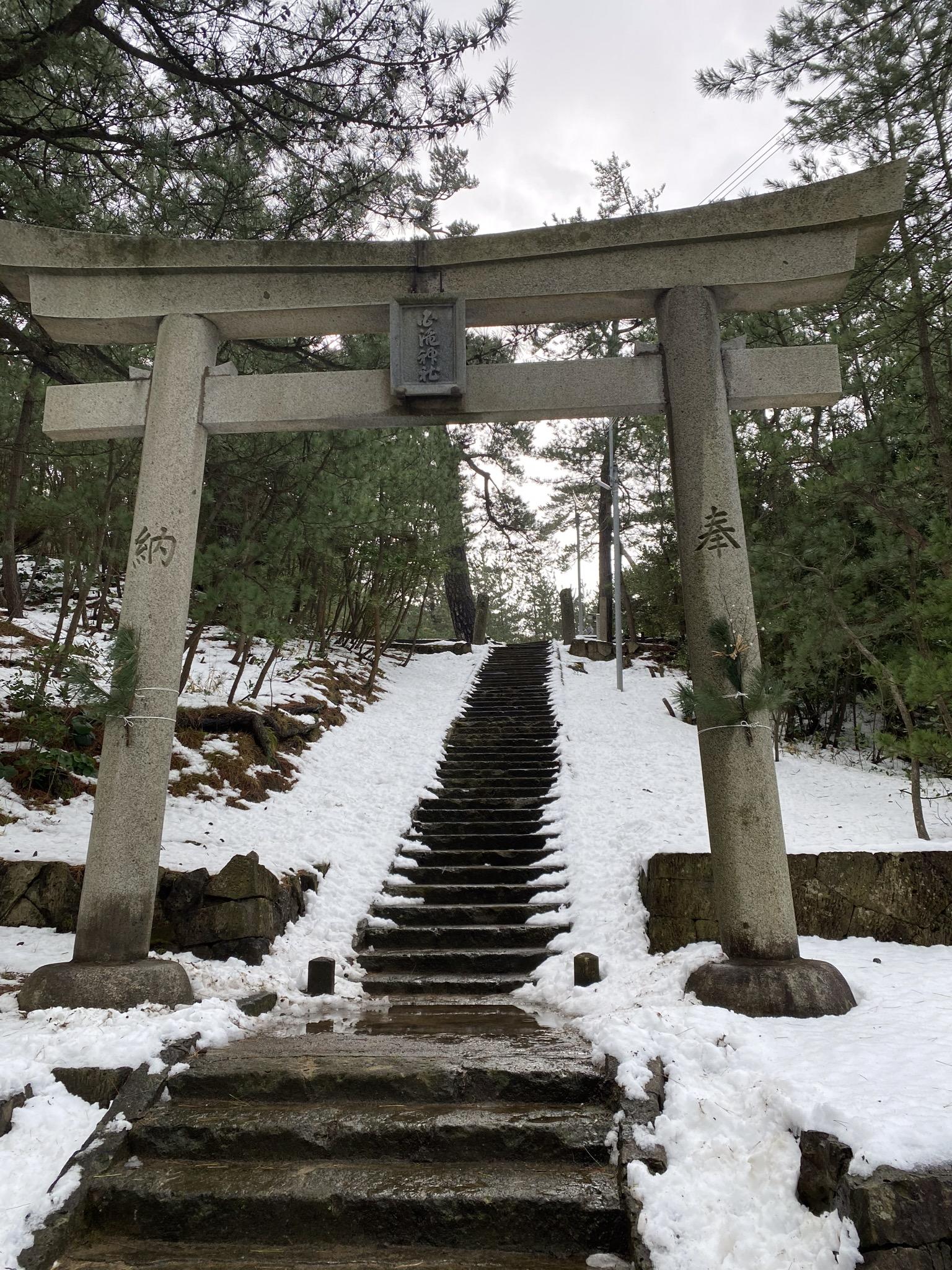 2021年元旦の白滝神社