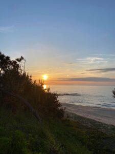 琴引浜の夕日