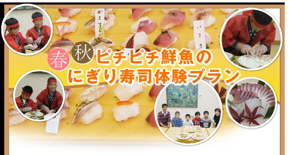 春秋ピチピチ鮮魚のにぎり寿司体験プラン