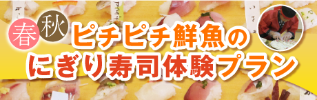 春~秋ピチピチ鮮魚のにぎり寿司体験プラン